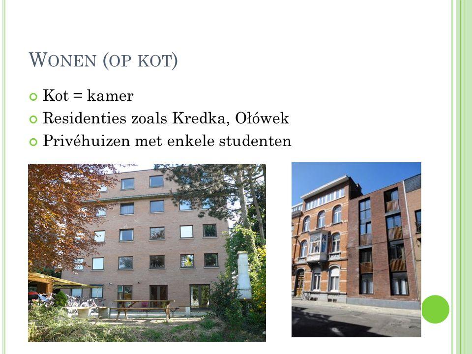 Wonen (op kot) Kot = kamer Residenties zoals Kredka, Ołówek