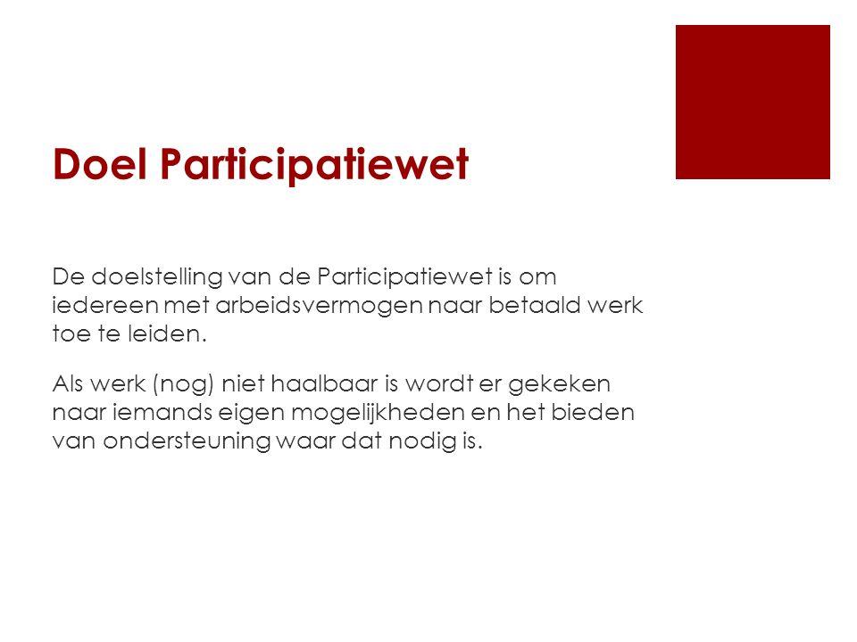 Doel Participatiewet