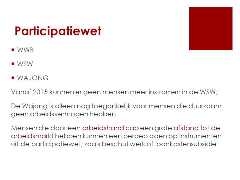 Participatiewet WWB WSW WAJONG