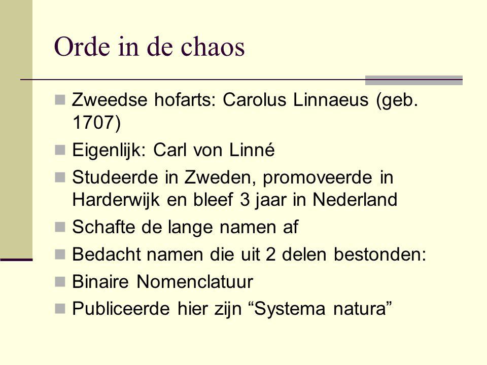 Orde in de chaos Zweedse hofarts: Carolus Linnaeus (geb. 1707)