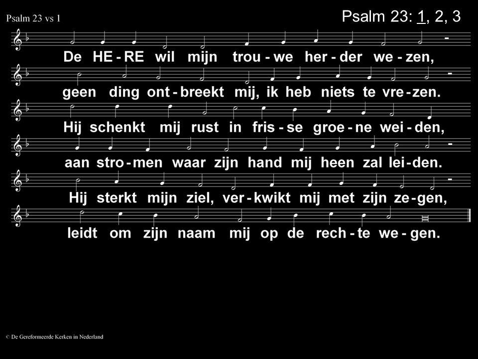 Psalm 23: 1, 2, 3
