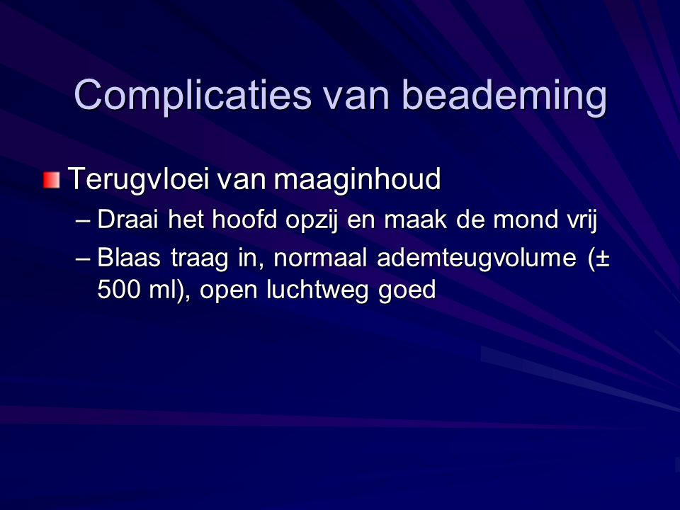 Complicaties van beademing