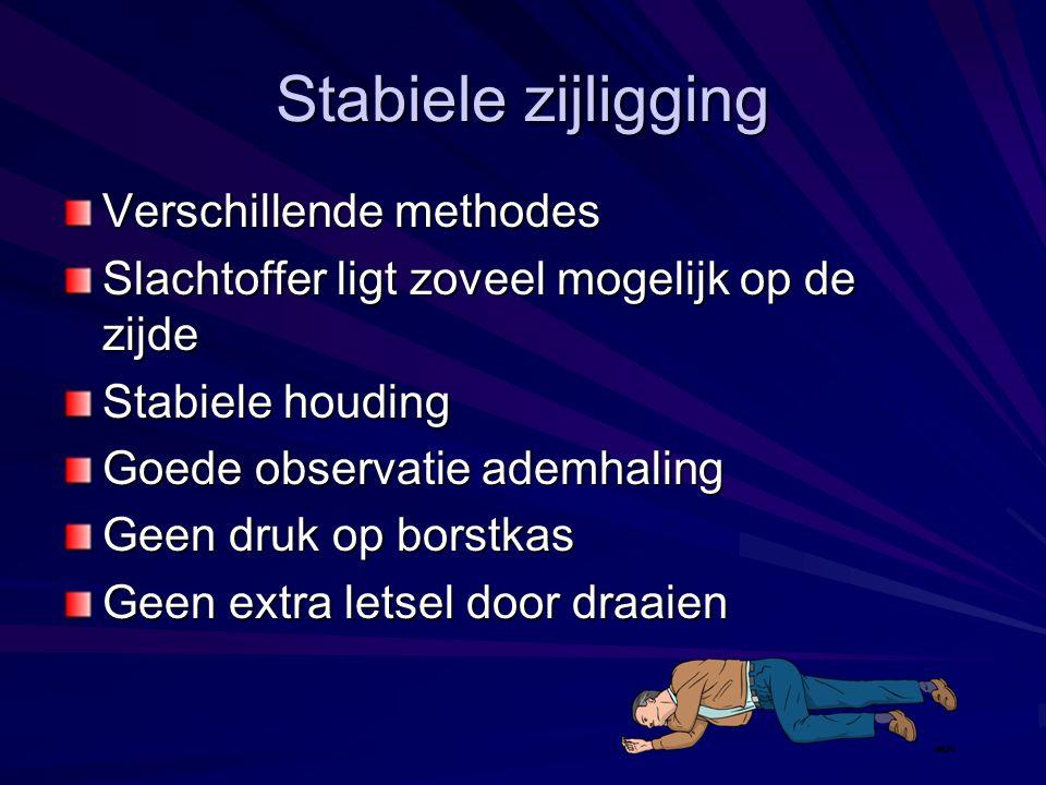 Stabiele zijligging Verschillende methodes