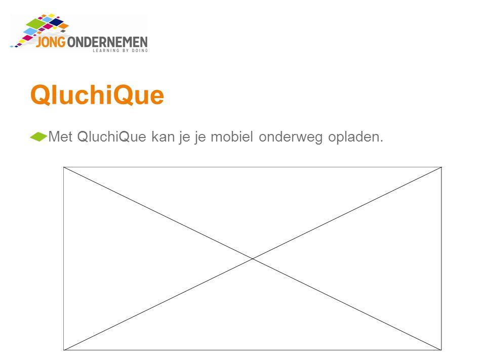 QluchiQue Met QluchiQue kan je je mobiel onderweg opladen.