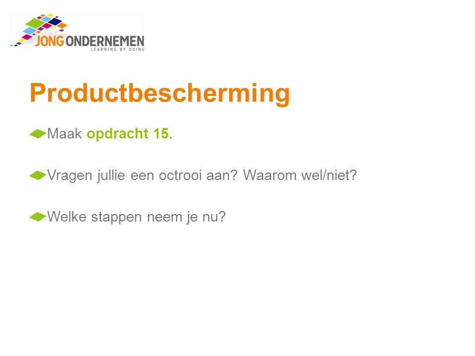 Productbescherming Maak opdracht 15.