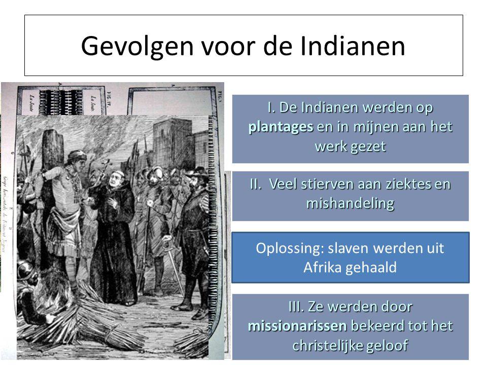 Gevolgen voor de Indianen