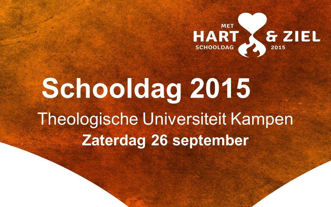 Theologische Universiteit Kampen Zaterdag 26 september