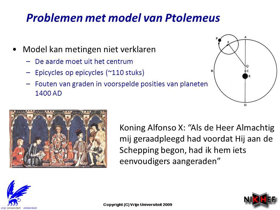 Problemen met model van Ptolemeus