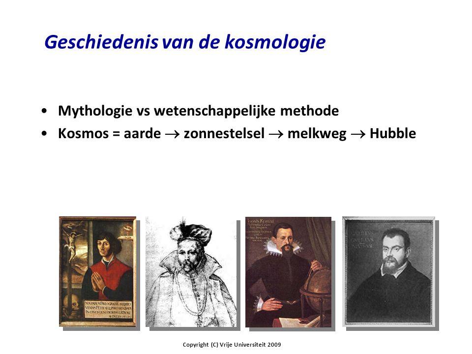 Geschiedenis van de kosmologie