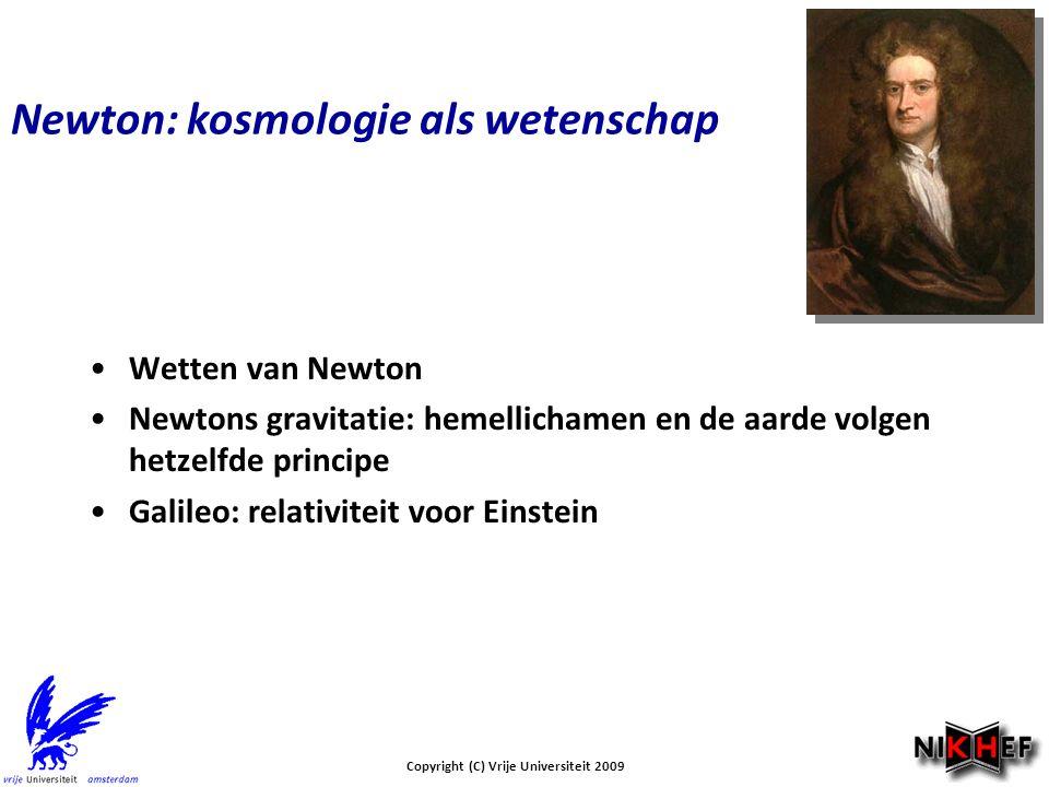 Newton: kosmologie als wetenschap