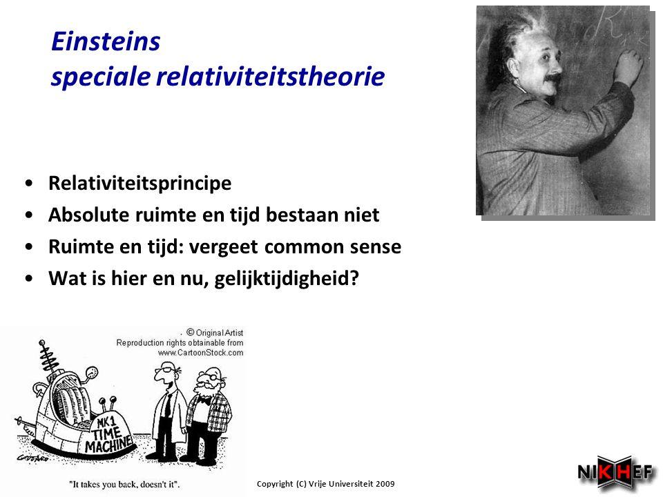 Einsteins speciale relativiteitstheorie