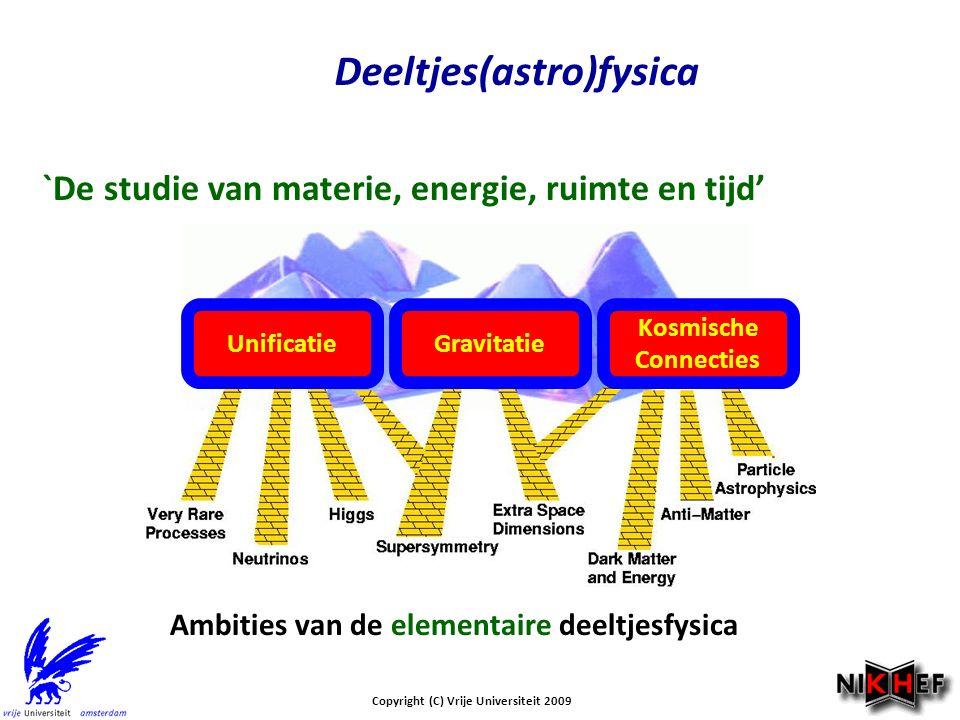 Deeltjes(astro)fysica Copyright (C) Vrije Universiteit 2009