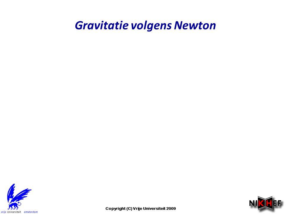 Gravitatie volgens Newton