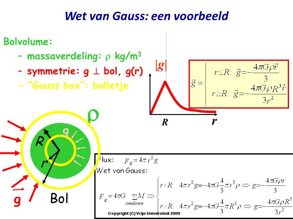 Wet van Gauss: een voorbeeld Copyright (C) Vrije Universiteit 2009