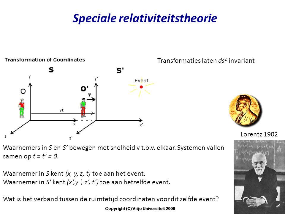 Speciale relativiteitstheorie