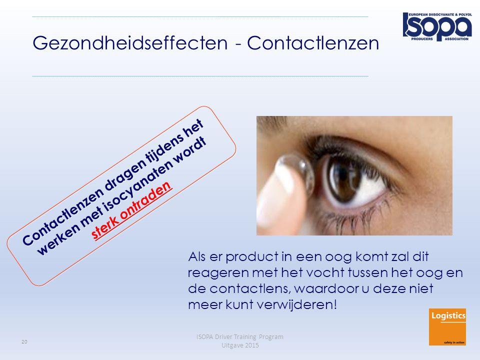 Gezondheidseffecten - Contactlenzen