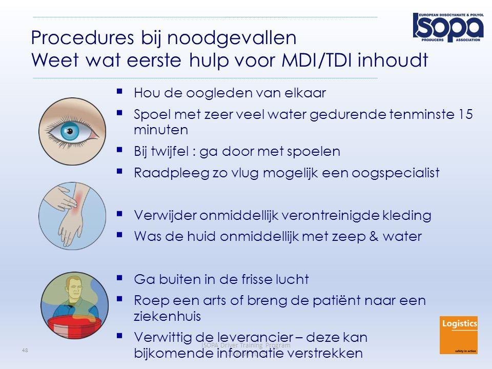 Procedures bij noodgevallen Weet wat eerste hulp voor MDI/TDI inhoudt