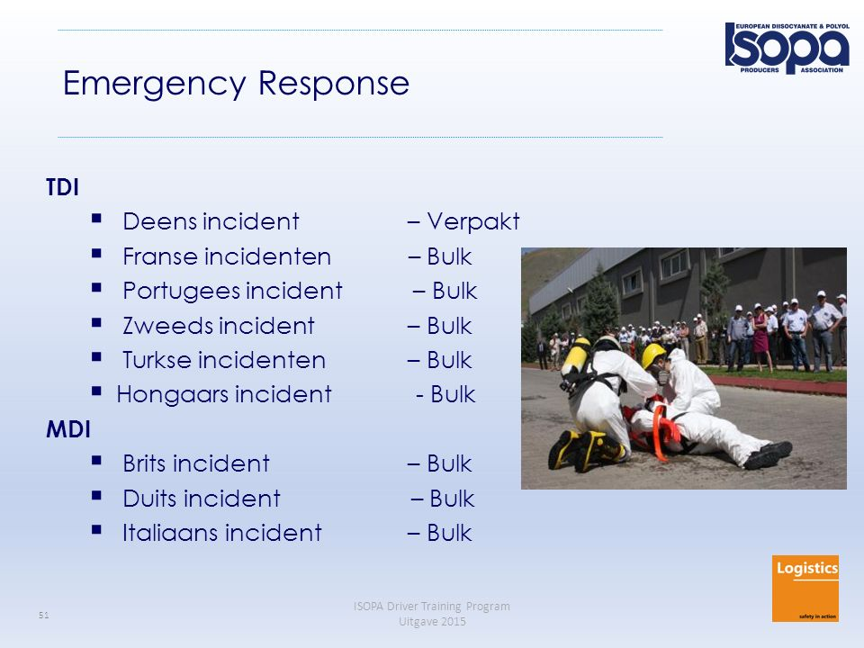 Emergency Response TDI Deens incident – Verpakt