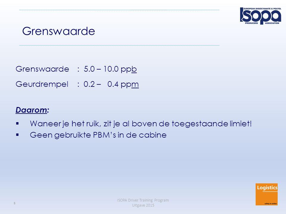 Grenswaarde Grenswaarde : 5.0 – 10.0 ppb Geurdrempel : 0.2 – 0.4 ppm