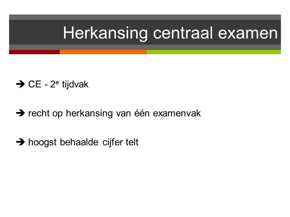 Herkansing centraal examen