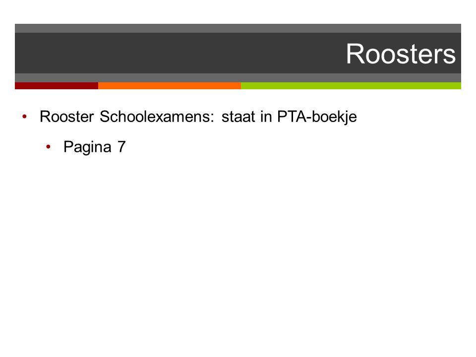 Roosters Rooster Schoolexamens: staat in PTA-boekje Pagina 7