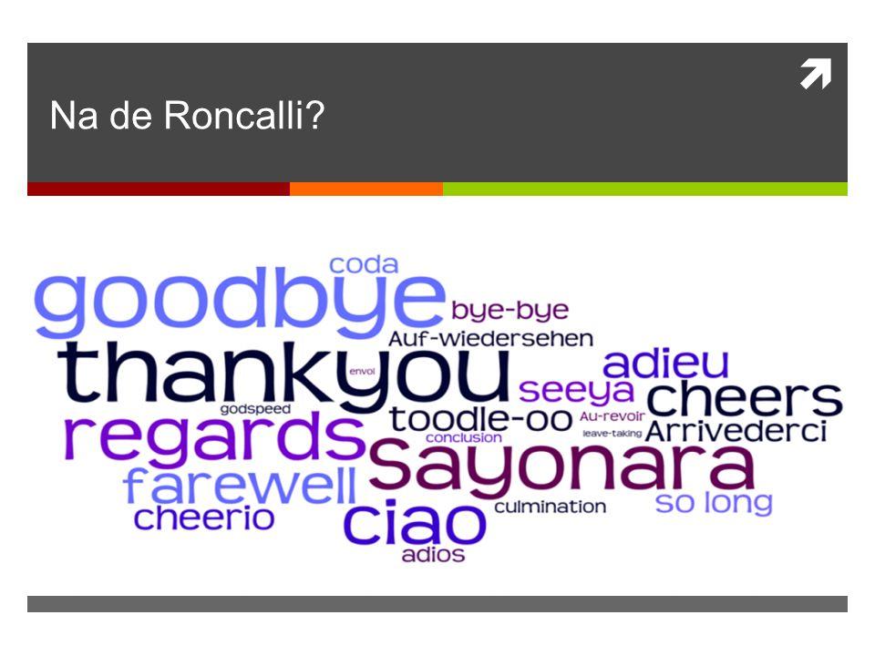 Na de Roncalli
