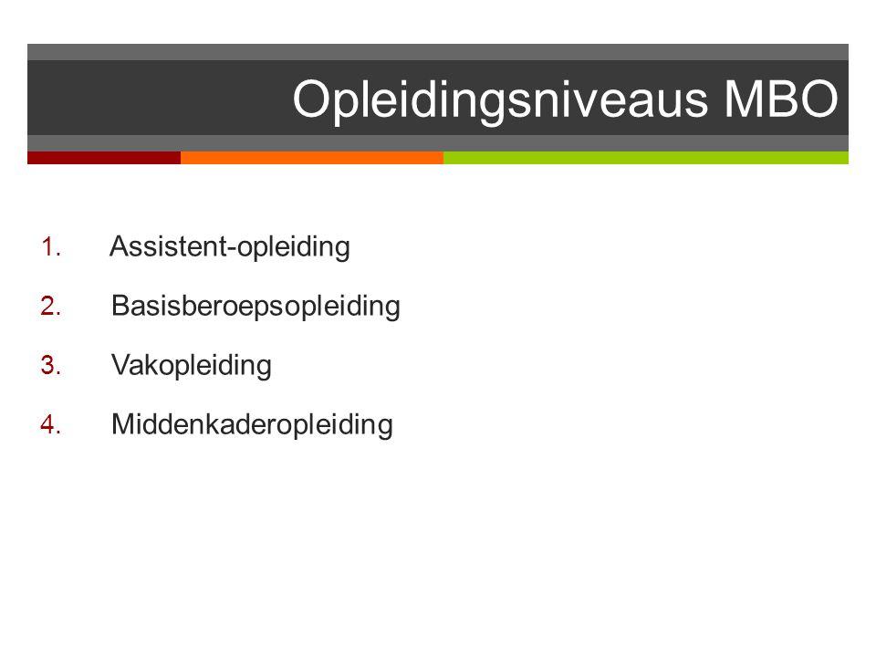 Opleidingsniveaus MBO