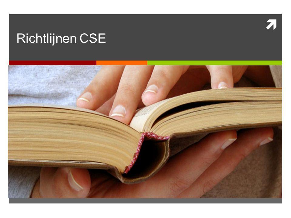 Richtlijnen CSE