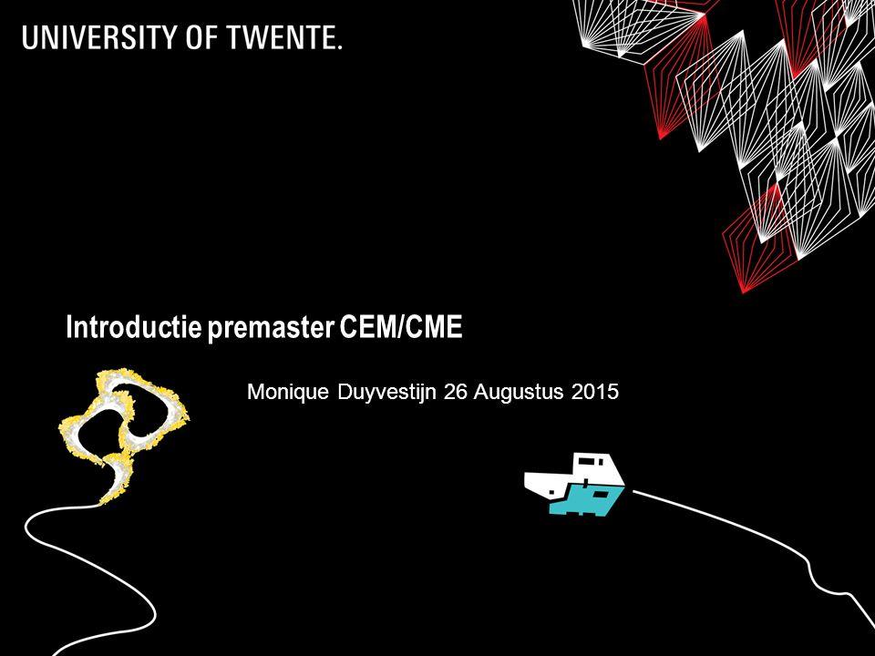 Introductie premaster CEM/CME