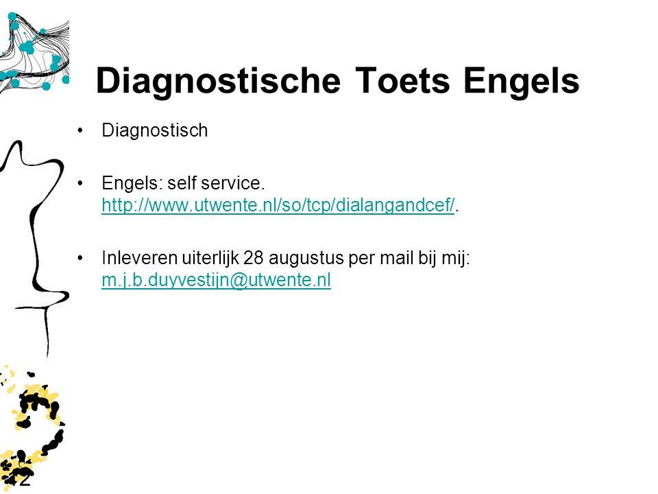 Diagnostische Toets Engels