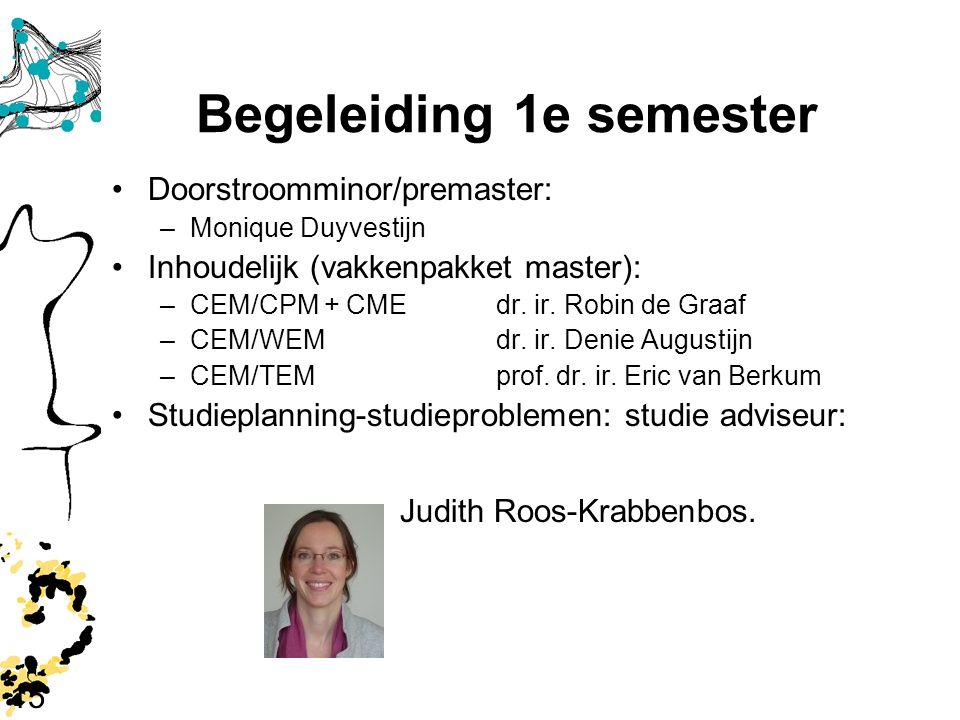 Begeleiding 1e semester