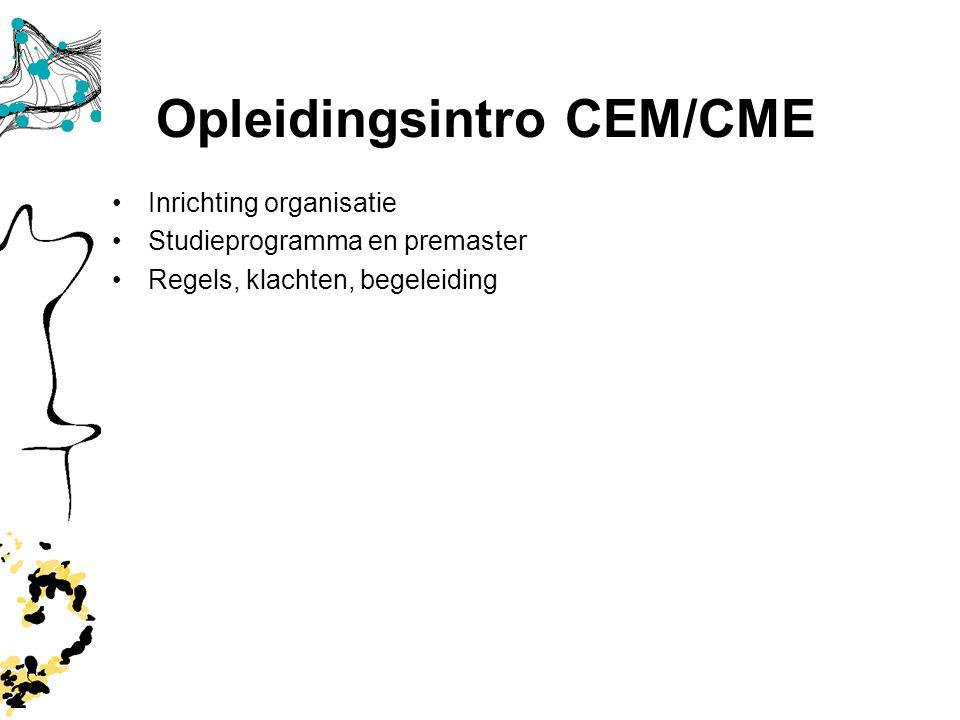 Opleidingsintro CEM/CME