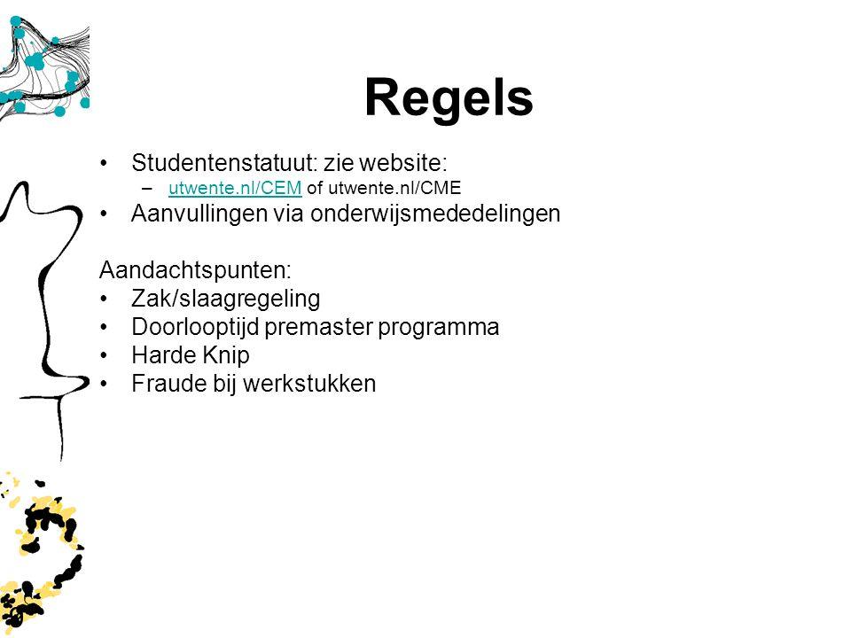 Regels 9 Studentenstatuut: zie website: