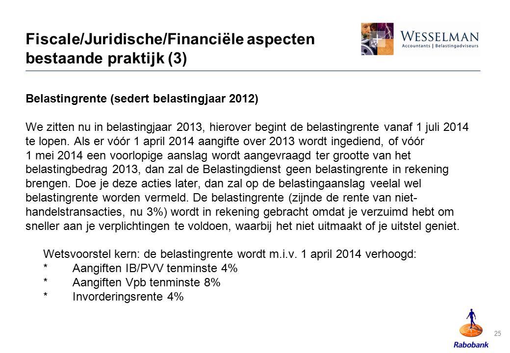 Fiscale/Juridische/Financiële aspecten bestaande praktijk (3)