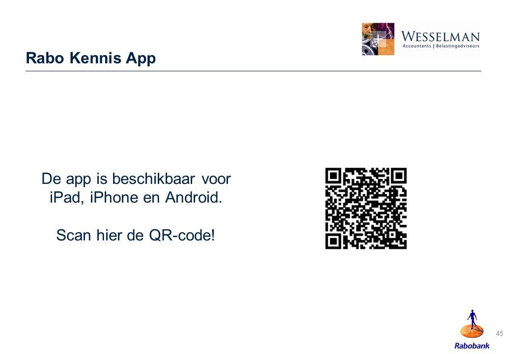 De app is beschikbaar voor iPad, iPhone en Android.