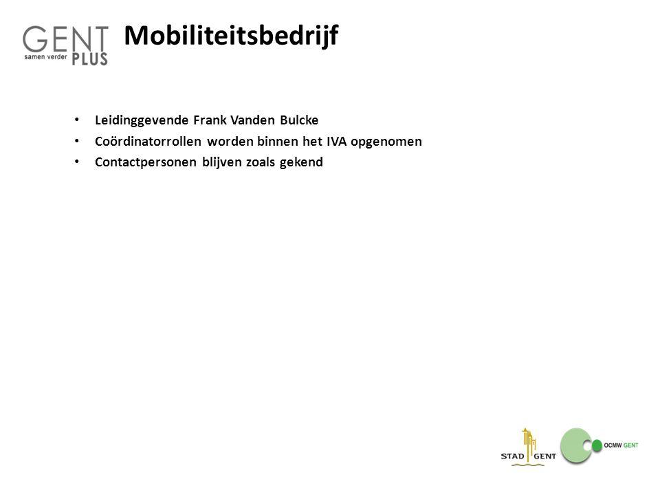 Mobiliteitsbedrijf Leidinggevende Frank Vanden Bulcke