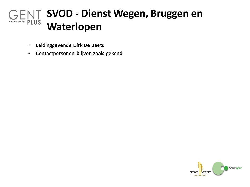 SVOD - Dienst Wegen, Bruggen en Waterlopen