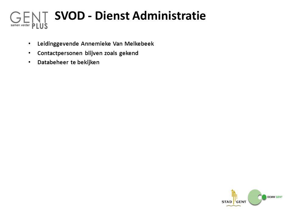SVOD - Dienst Administratie