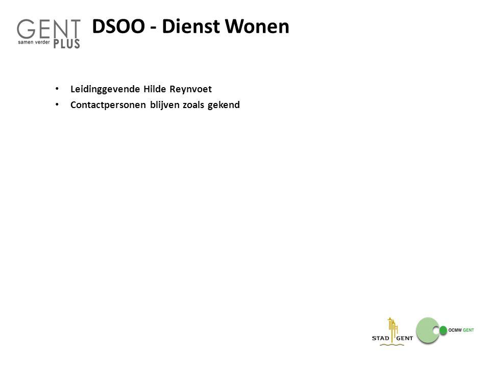 DSOO - Dienst Wonen Leidinggevende Hilde Reynvoet