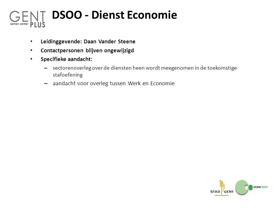 DSOO - Dienst Economie Leidinggevende: Daan Vander Steene