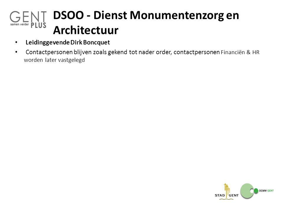 DSOO - Dienst Monumentenzorg en Architectuur