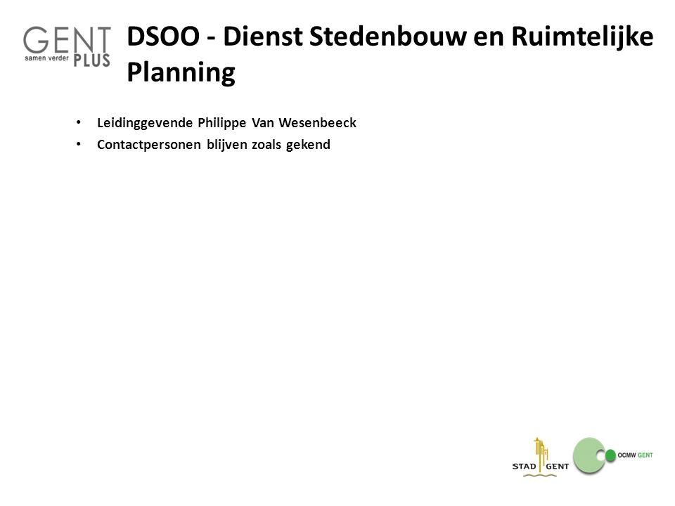 DSOO - Dienst Stedenbouw en Ruimtelijke Planning