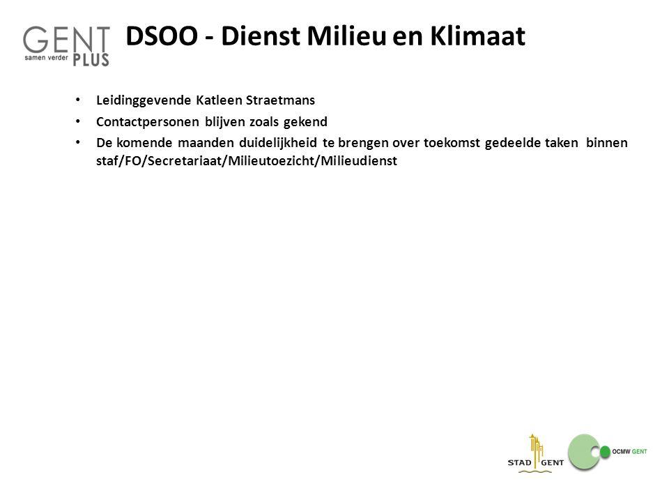 DSOO - Dienst Milieu en Klimaat
