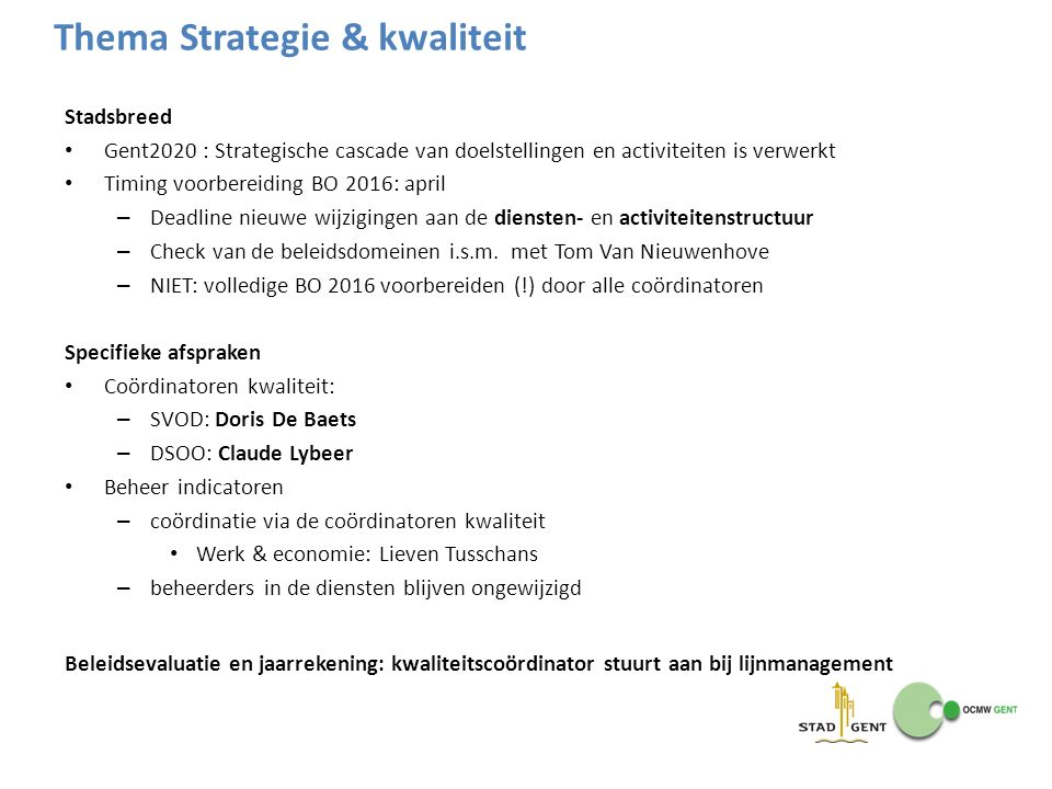 Thema Strategie & kwaliteit