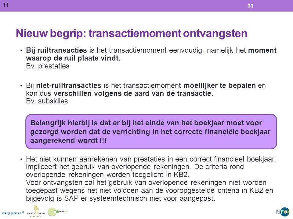 Nieuw begrip: transactiemoment ontvangsten