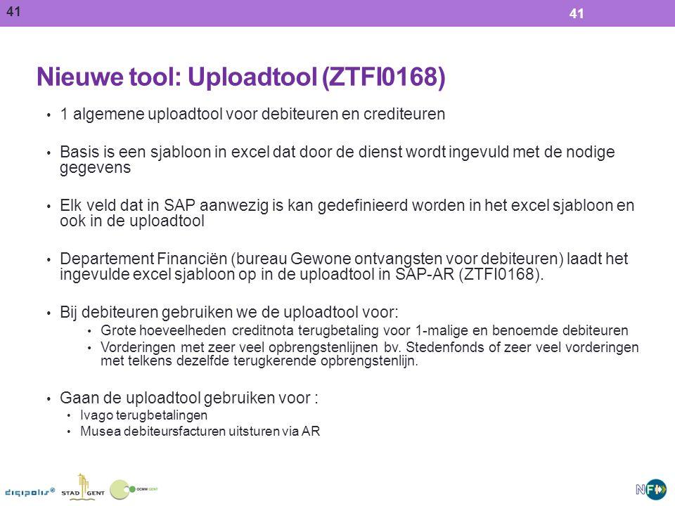 Nieuwe tool: Uploadtool (ZTFI0168)