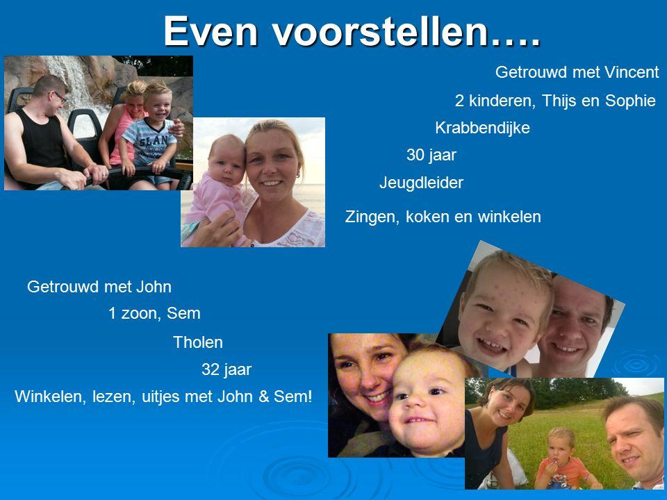 Even voorstellen…. Getrouwd met Vincent 2 kinderen, Thijs en Sophie