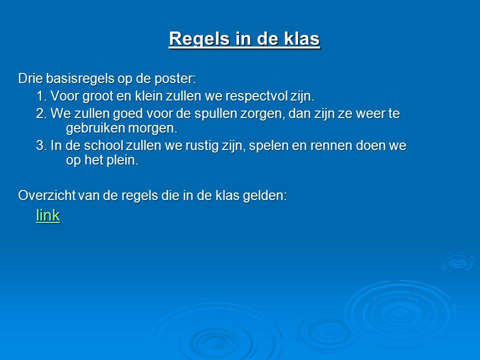Regels in de klas link Drie basisregels op de poster: