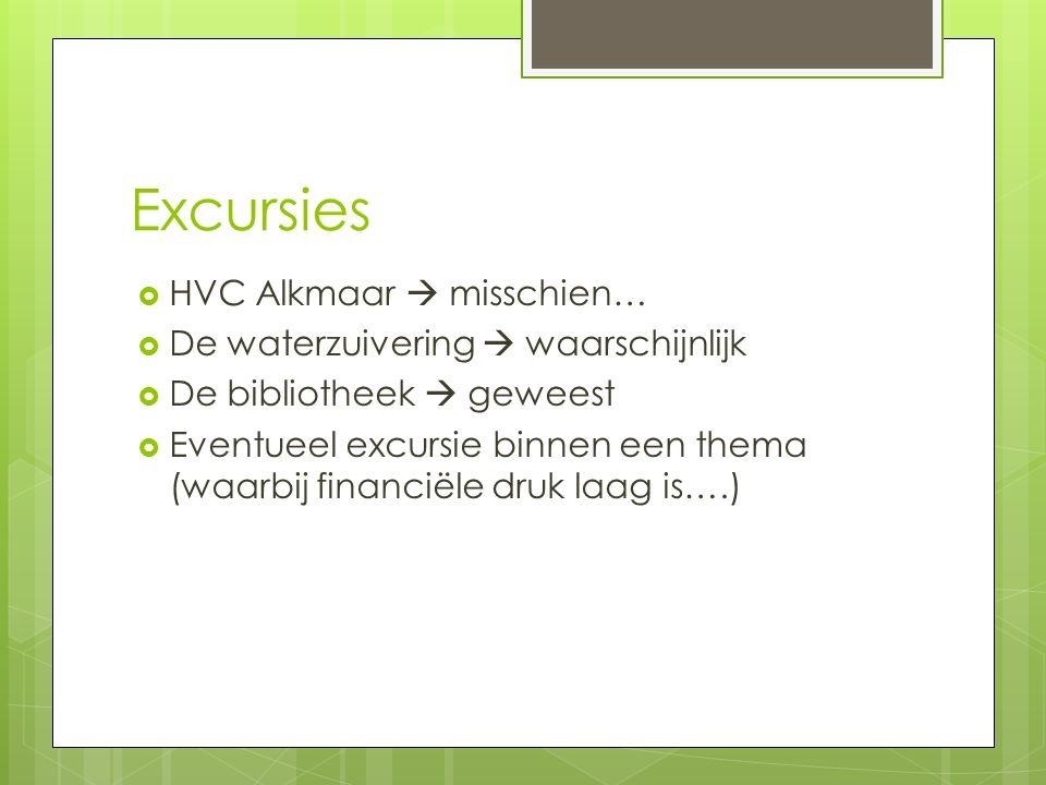 Excursies HVC Alkmaar  misschien… De waterzuivering  waarschijnlijk