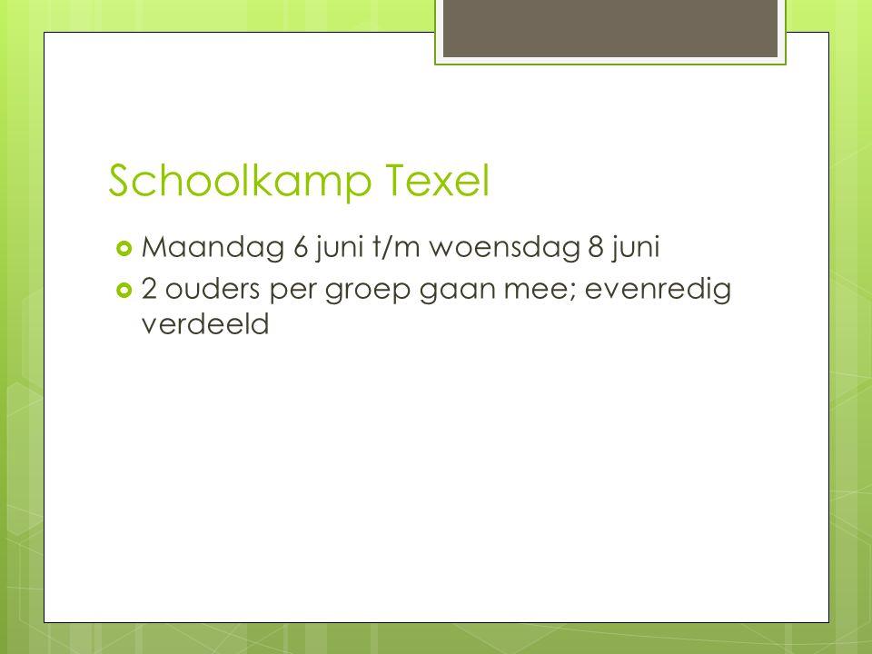 Schoolkamp Texel Maandag 6 juni t/m woensdag 8 juni